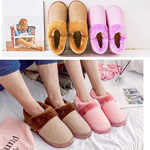 Chaussons DWW Pantalon Imperméable à LEau Épais Anti-Dérapant des Hommes de Pantoufles avec des Chaussures Intérieures de Grande Taille Pattern 2
