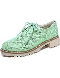 SHOWHOW Damen Luftig Flach Schlangen-Muster Freizeitschuh Sneakers Pink 42 EU d6Mv1owWY7