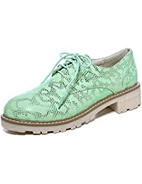 SHOWHOW Damen Luftig Flach Schlangen-Muster Freizeitschuh Sneakers Pink 42 EU SJydjg