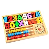 #7: Munchkin Land Educational Learning Toy, Learn Time with Clock, Digital Learning Tools for Kindergarten Preschoolers, Arithmetic Math Games, Abacus for Kids