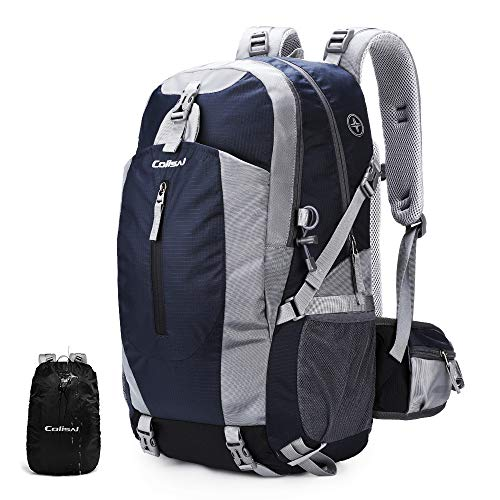 Colisal Wanderrucksack Damen 40L Trekking Rucksack Herren Tagestour Rucksack mit Regenschutz Camping Rucksäcke für Wandern Outdoor Reisen Blau