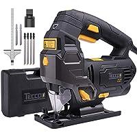 Scies Sauteuses, TECCPO Professional 800W Scie Sauteuse électrique, Hauteur de Course 22mm, 3000SPM, Angle Max 45°, 6 Vitesses, avec Guide Laser - TAJS01P
