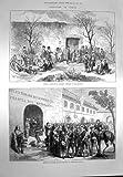 Soldati 1873 di Alhambra dei Prigionieri della Spagna Tarragona