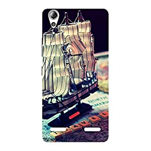 Gorgeous Travel ship Multicolor Back Case Cover for Lenovo A6000