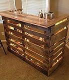 Theke Bar aus Holz von Kastanie und EPAL, komplett mit Licht LED und einige Zubehör für die Bar, dass wir uns