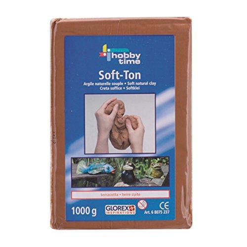 Glorex Soft Ton terracotta 2500 g, lufthärtend oder brennbar