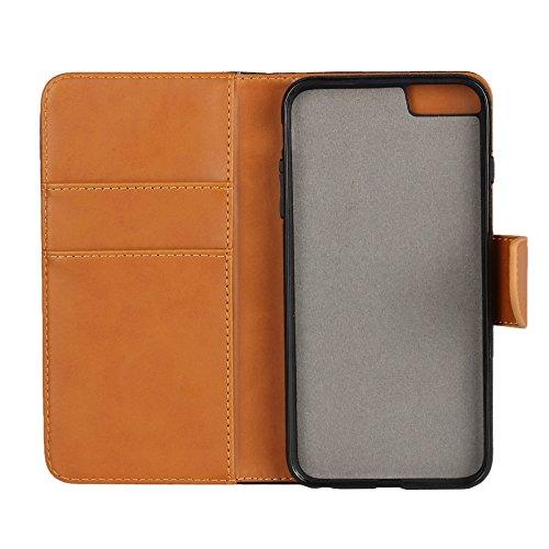 """MOONCASE iPhone 6 Plus / 6S Plus (5.5"""") Étui, Amovible 2 en 1 Housse en Cuir Case à rabat Coque de protection Bookstyle Case avec Porte-cartes Fentes Fermeture Magnétique pour iPhone 6 Plus / 6S Plus  Vert"""