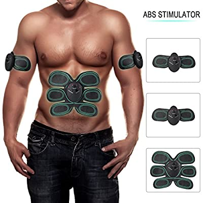 KINGSBOM Abs Stimulator - Ultimate Muscle Stimulator for Men Women - Professional Abdominal Muscle Toner with 6 Mode 10 Intensity for Toning Muscle - Simple Operation Abs Fat Burner Belt from KINGSBOM
