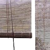 Tapparelle Avvolgibili In Bambù Di Colore Antico, Ombreggiatura 55% In Stile Giapponese per Divisorio per Finestre, Balcone con Balconcino Panoramico, 50 Cm / 60 Cm / 70 Cm / 80 Cm / 90 Cm / 100 Cm Di