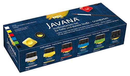 Javana 90598 - colori per stoffa opak creativ basic-set, 6 x 20 ml