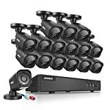 ANNKE 16CH TVI 1080P Lite Security Camera Systems and 16x 720P Weatherproof CCTV