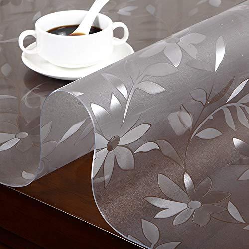 ZYHJAMA Tapis de Table carré Transparent en Nappe, Nappe en PVC, Tapis de Table en Verre Doux, résistant aux huiles et Anti-brûlants