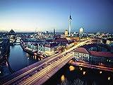 Artland Qualitätsbilder I Poster Kunstdruck Bilder 120 x 90 cm Städte Deutschland Berlin Foto Natur C0GA Berlin Cityscape am Abend