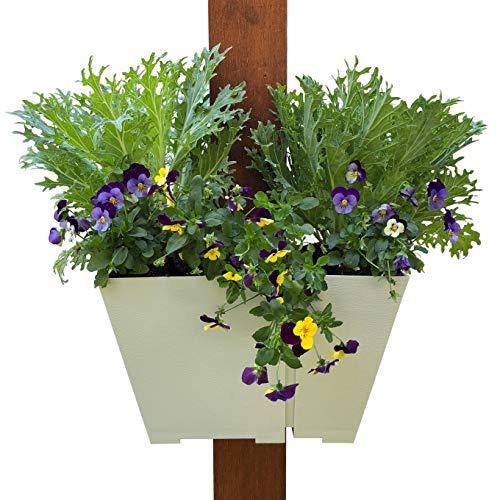 Verstellbare halb-Wrap Hängepflanze Moderne, platzsparende quadratische Behälter für Blumen und Kräuter. Vertikale Gärten auf Veranda, Terrassen, Pergolen und mehr.