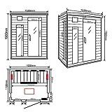 Home Deluxe – Infrarotkabine – Gobi L – Vollspektrumstrahler – Holz: Hemlocktanne - Maße: 153 x 110 x 190 cm – inkl. vielen Extras und komplettem Zubehör - 7