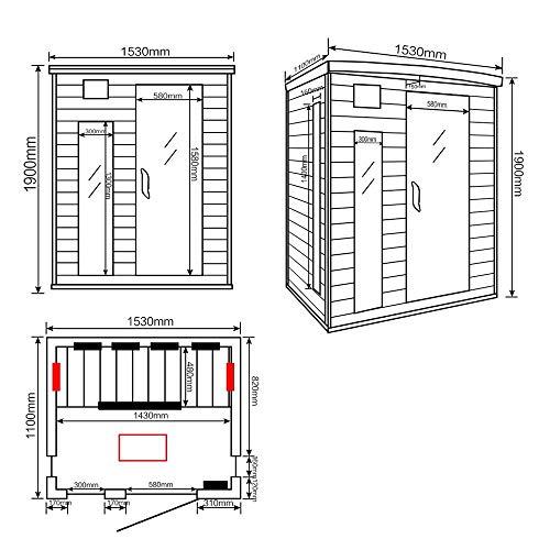 Home Deluxe – Infrarotkabine – Gobi L