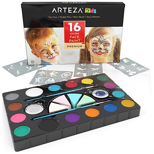 ARTEZA Kids Pintura facial niños | Kit