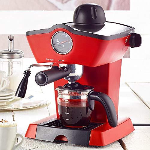 Monsterzeug Siebträger Espressomaschine, Retro Siebträgermaschine, Espresso Kaffeemaschine Vintage, Milchaufschäumer, 800 Watt