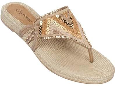 Grendha Fresh femmes Flip Flops / Sandals - or - SIZE EU 41/42
