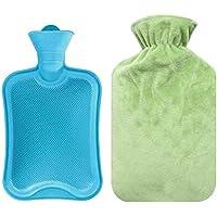Tragbare zufällige Farbe Gummi Heißwasser Tasche mit grünen Plüsch Cover Tasche preisvergleich bei billige-tabletten.eu