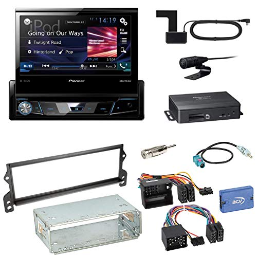 Pioneer NAVGATE78BT Navi Bluetooth CD DVD USB Moniceiver Touchscreen Autoradio Navigation Einbauset für Mini R50 R52 R53 (Navigation Mini Cooper Dvd)