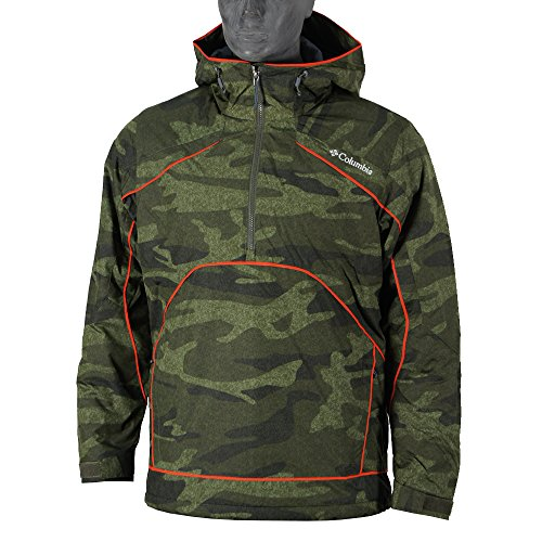 columbia-antler-falls-iii-pullover-con-zip-jacket-marrone