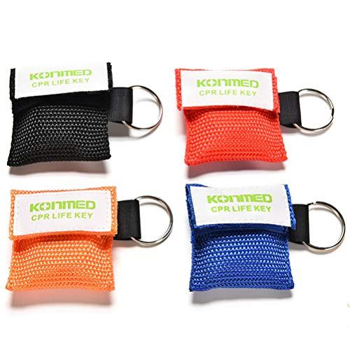 AOWA CPR Maske Schlüsselanhänger Notfall CPR Gesichtsschutz für Erste Hilfe, 4 Stück