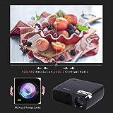 WIFI Beamer, LESHP HD Portble 3200 Lumen Projektor, LED LCD USB Heimkino Videoprojektor 800x480 Native Auflösung Unterstützt 1080P TV AV HDMI VGA 3200 lumens für zu Hause, Präsentation, Unterwegs Konferenzrunde Party Unterhaltung (Schwarz mit WIFI) -