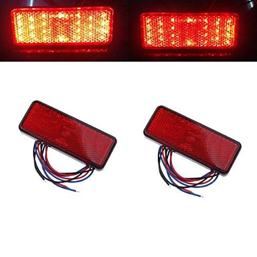 Malloom 2 x coche ATV SUV 12V rojo 24 LED Stop niebla