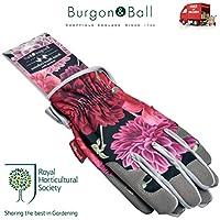 Burgon & Ball RHS Ladies Gardening Gloves British Bloom Cushioned Palm Garden Gift GRH/GLOVEBB