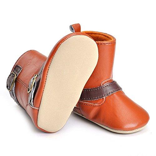 ESTAMICO , Chaussures souple pour bébé (garçon) Gris gris 3-6 mois Marron