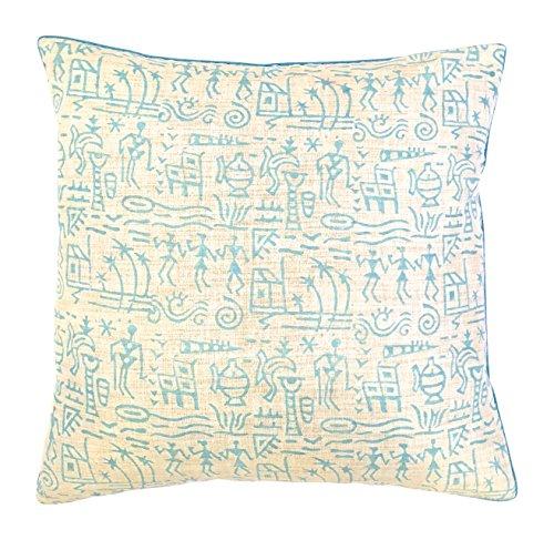 the-indian-promenade-16-x-16-cm-en-coton-motif-pastel-melange-warli-housse-de-coussin-bleu-clair-bei