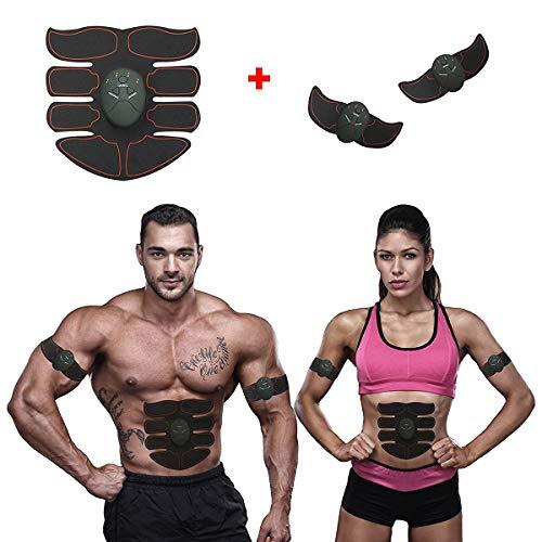 ABS-Simulator-Trainer-Körper-Übungs-Form-Form der magischen EMS-Muskel-Trainings-Ausrüstung ABS (Color : Black with Red)