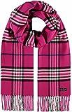 FRAAS Schal aus reinem Cashmink für Damen & Herren - Made in Germany - warmer XXL-Schal - Plaid weicher als Kaschmir - karierter Winter-Schal Pink
