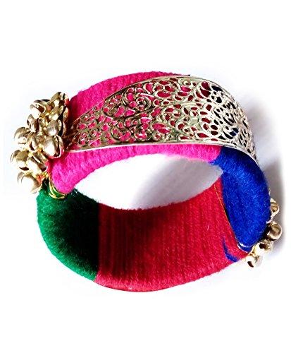 AkinosKIDS Beautiful Ethnic handmade Multi colored bangle with golden beads for Baby Girls.