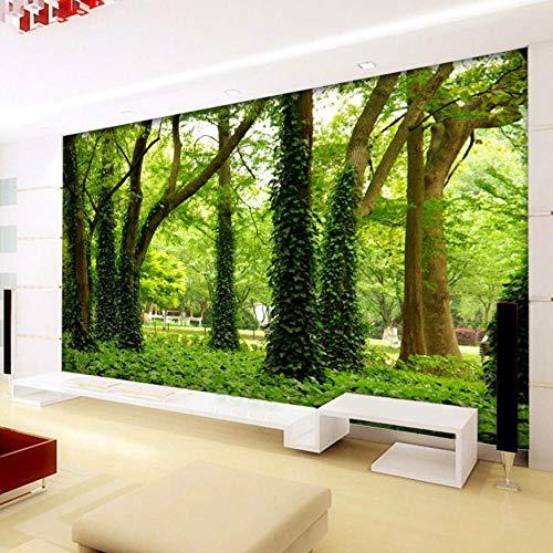 Grüner Baum Wald 3D Stereo Großes Wandbild Tapete Wohnzimmer Sofa Schlafzimmer TV Hintergrundfoto Tapeten Moderne Malerei-120X100CM 5300 Stereo