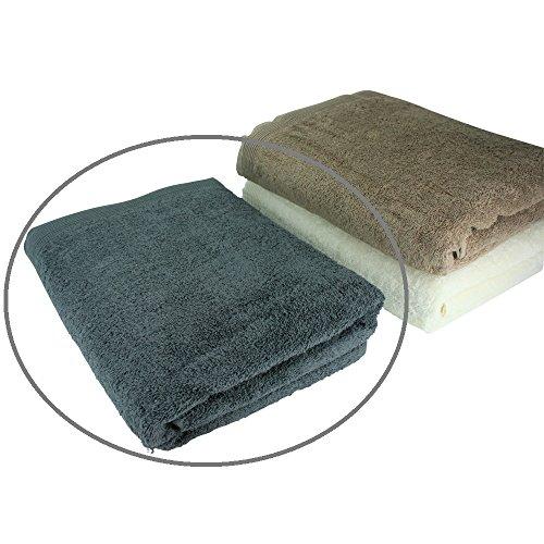 XXL-Saunatuch in grau im Maß ca. 80x200cm, aus 100% Baumwolle, hochwertig, OekoTex, besonders saugfähig und flauschig (Handtuch Baumwolle Plus Handtücher)