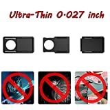 HEYYOUNG 3 Pcs 0.027inch Ultra-Thin Webcam Cover Pro Privacy Protection Shutter Sticker Cover Case for Smartphone, Tablet Laptop, Computer, Pc, Desktop, Etc Black 3 Sizes