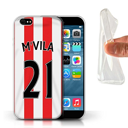 Offiziell Sunderland AFC Hülle / Gel TPU Case für Apple iPhone 6 / Pack 24pcs Muster / SAFC Trikot Home 15/16 Kollektion M'Vila
