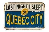 LEotiE SINCE 2004 Fuß Hunde Matte Bett Fernweh Stadt Québec Kanada Bedruckt 40x60 cm