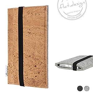 Handy Tasche SINTRA - Filz Kork Gummiband Tasche Case