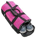 BORA.sportswear Sporttasche Mesh 25L mit Schuhfach und Mesh-Oberseite Belüftung - klein mit abgetrenntem Nassfach, Wertfach und Schultergurt - in Pink und Lila (Pink)