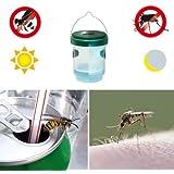 Gardigo 2en1 trampa de avispas y trampa para mosquitos con la luz solar LED