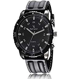 iSweven V6 Series racing retro fashion analog watch Analogue Black Unisex Wrist Watch W1040a