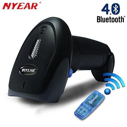 Nyear Handheld drahtlos und verdrahtet zwei in einem Bluetooth 4.0 & USB Barcode-Scanner, 1D Handheld-Inventar-Laser-Barcodeleser mit automatischer kontinuierlicher Scan für Computer ipad iphone Android Windows