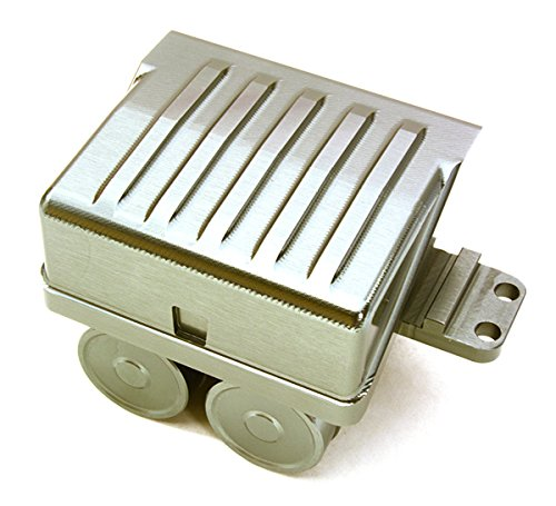 Integy RC Model Hop-ups C26999GUN Realistic Alloy Air Reservoir Tanks & Side Box Enclosure for 1/14 Trucks