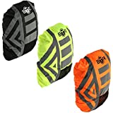 BTR Waterproof High Visibility Backpack Cover, Rucksack Cover. 300D Oxford Fabric, 3M Tape Reflective Stripes.