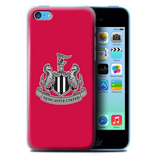 Officiel Newcastle United FC Coque / Etui pour Apple iPhone 5C / Mono/Blanc Design / NUFC Crête Football Collection Mono/Rouge
