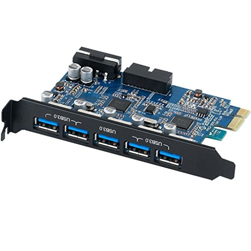 Orico PVU3-5O2I Tarjeta expansión PCI Express 5 puertos