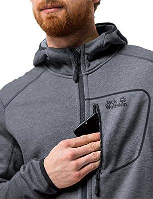 Jack Wolfskin Herren Skyland Hooded Jacket Men Elastisch Atmungsaktiv Warm Outdoor Kapuzen, Fleecejacke von JACM8|#Jack Wolfskin bei Outdoor Shop